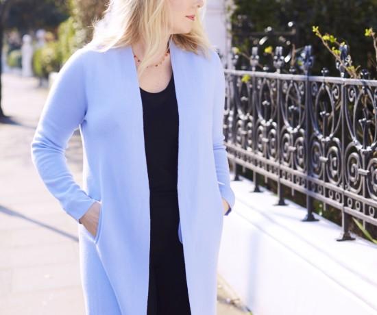 light blue knit coat Winser